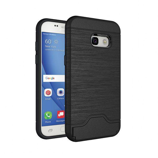 Guma + Plast kryt Armor na Samsung Galaxy A3(2017) - čierna - Bakamo ... 1a1e1ef72da