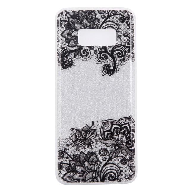 Gumený kryt Black Flower na Samsung Galaxy S8 c0030e213c6