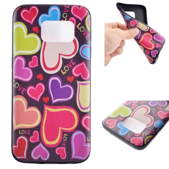 Gumený kryt Hearts na Samsung Galaxy S6 - Bakamo.sk - Kryty 9c65f201c60