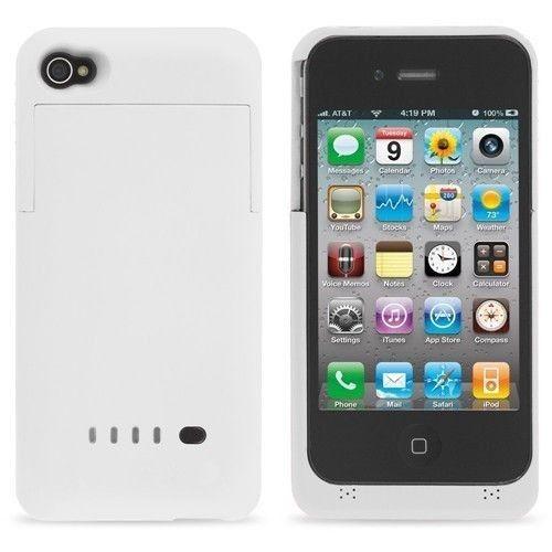 Nabíjacie puzdro na iPhone 4 4s - biela 771347e32c2