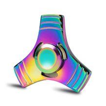 Kovový Fidget Spinner Farebný 3 hranný