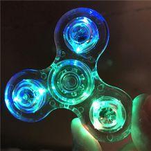 Plastový Led Fidget Spinner - duhový