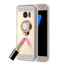 Gumený Diamond Encrusted na Samsung Galaxy S7- zlatá 85e3758f94b