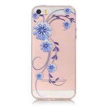 Gumený kryt Blue Flowers na iPhone 5S SE 1db5ada529e