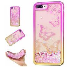 Gumený kryt Butterflies na iPhone 7 Plus   iPhone 8 Plus 95df461dfa2