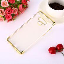 Gumený kryt Electroplating na Samsung Galaxy Note 9- zlatá e981f03cf2a