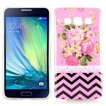 Gumený kryt Pink Flowers and Wave Line Pattern na Samsung Galaxy A3 bd8592275e0