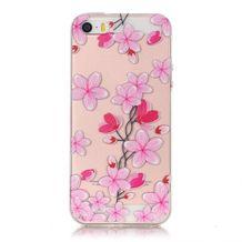 Gumený kryt Pink flowers na iPhone 5S SE 63cfad277b8
