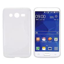 Gumený kryt S Line na Samsung Galaxy Core 2 - biela b5ccbe3a9dc