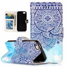 Peňaženkové puzdro Blue na iPhone 5 5s ffa711f8ebd