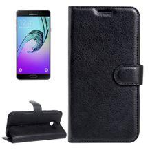 Peňaženkové puzdro Lichi na Samsung Galaxy A3(2017) - čierna 3fe05930a76