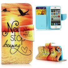 Peňaženkové puzdro Never stop Dreaming na iPhone 5 5s bd9257d31e6