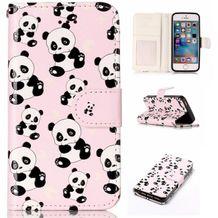 Peňaženkové puzdro Pandas na iPhone 5 5s 1e3d3410ffe