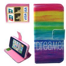 Peňaženkové puzdro Rainbow na iPhone 4 4s 2b003ccdc6c